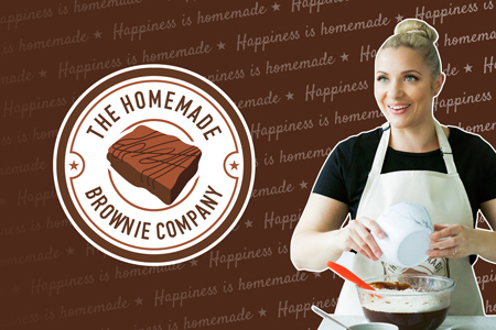 homemade brownie company branding